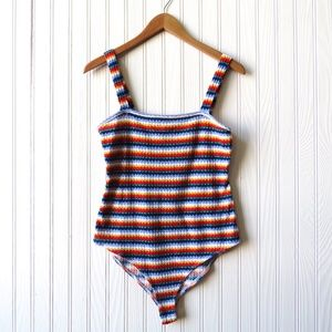 Forever 21 Retro Striped One Piece Tank Top